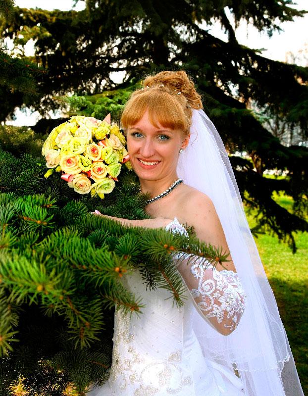 Свадебный макияж и прическа на дому недорого