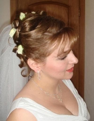 Свадебная прическа на короткие волосы невесты галерея